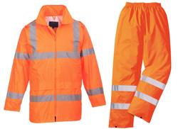 Orange Rubberised Rainsuits2