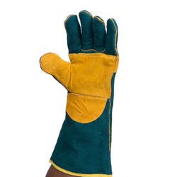 8″ Green Welders Reinforced Leather Glove
