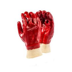Red PVC Knitwrist Glove