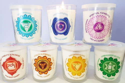7 Chakra candles FULL SET