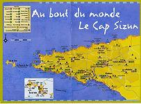 Carte du site de randonnées