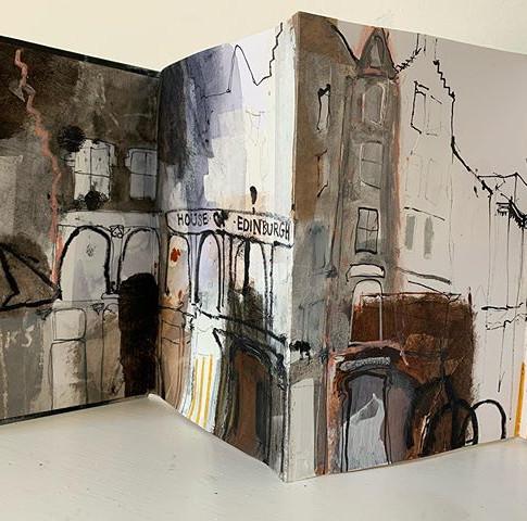 Edinburgh High Street sketchbook