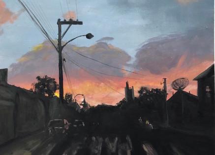 sunset landscape study of Brazil