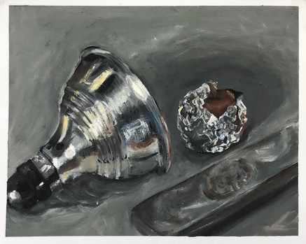 metallic object study with natural lighting