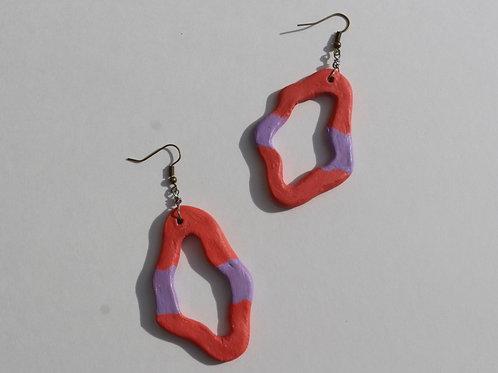 pinknpurple earring