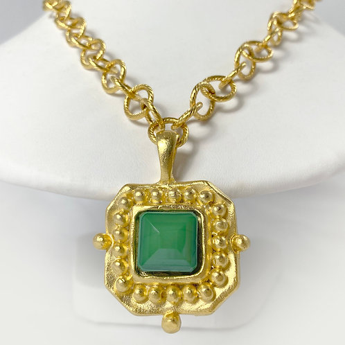 Green Susan Shaw London Necklace