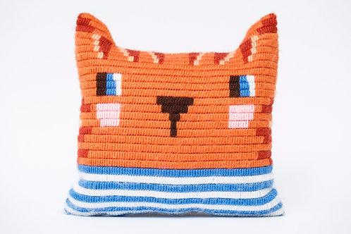 ערכת כרית - רקמת חתול