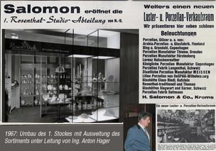 Inserat für neues Rosenthal-Studio 1967