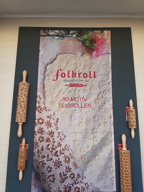 Folkroll 3D-Motiv Teigrolle klein