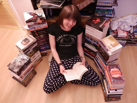 Creator of The Readers Guide Anna-Roisin Ullman-Smith with her collection