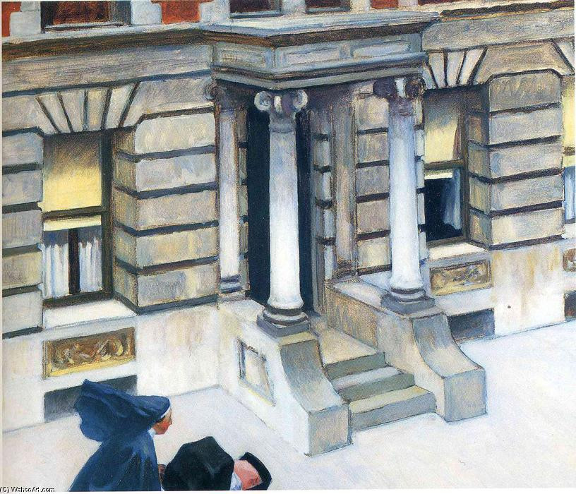 """New York Pavements"" - Edward Hopper, 1924, Copyright: https://en.wahooart.com"