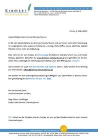 Brief an Mitglieder