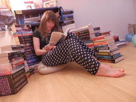 Creator of The Readers Guide Ana-Rois Ullman-Smith enjoying a good book