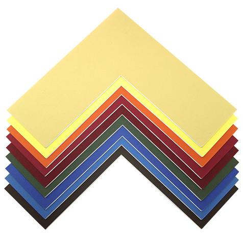 Färbige Passepartouts