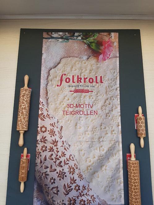 Folkroll 3D-Motiv Teigrolle groß