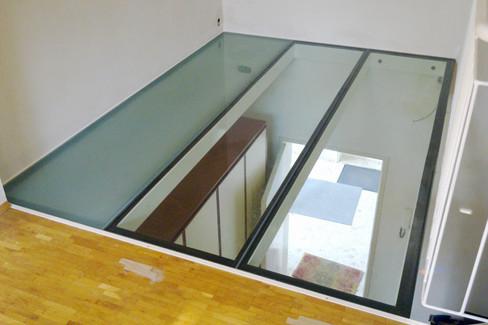 Fußbodenverglasung