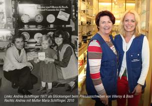 Andrea Schiffinger damals und heute