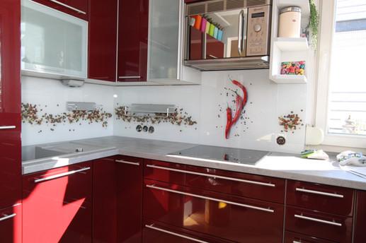 Bedruckte Küchenrückwand mit Wunschmotiv