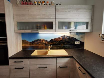 Bedruckte Küchenrückwand mit eigenem Foto