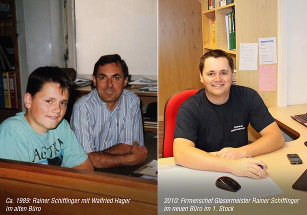 Rainer Schiffinger damals und heute