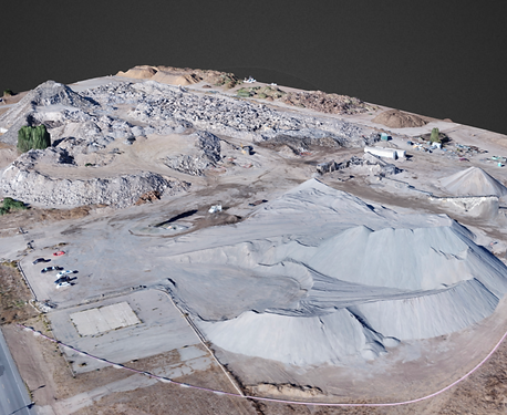 3D rendering of concrete site
