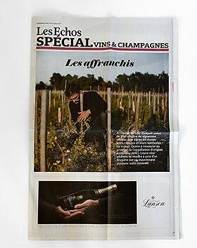 Les Echos Spécial vins et champagnes