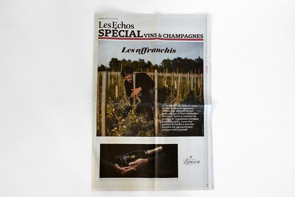 Les Echos - Spécial vins et champagnes -