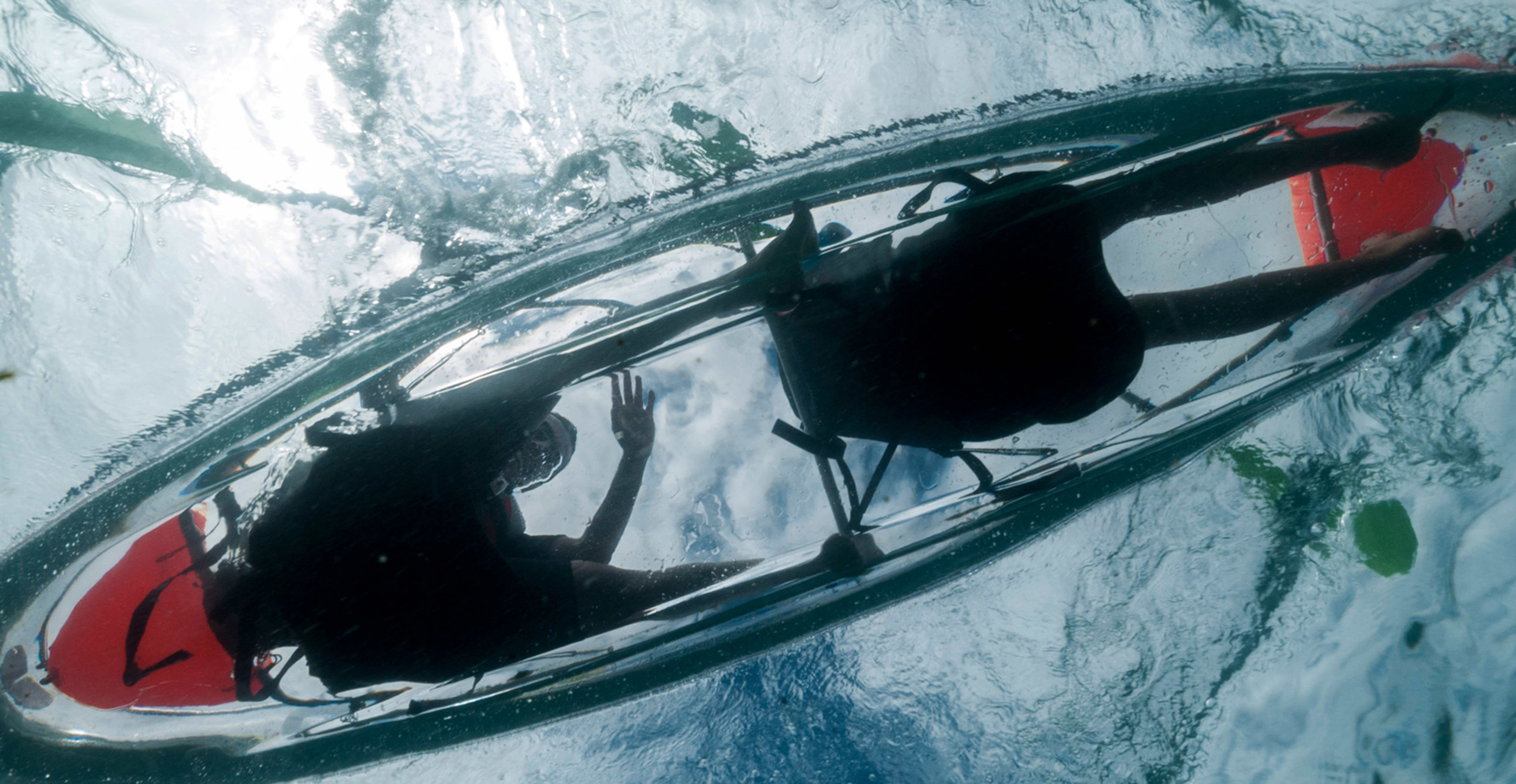 Alquiler de kayak transparente 30 min