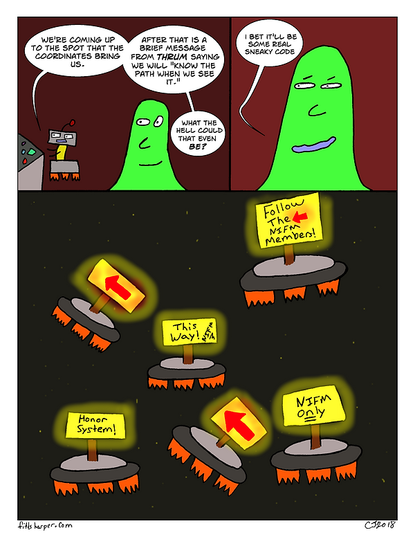 Box and Slime webcomic posts every Monay and Friday; Sneaky Code