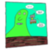 Box and Slime webcomic posts every Monay and Friday. Too Much to Handle is this week's humorous, scifi comic strip.