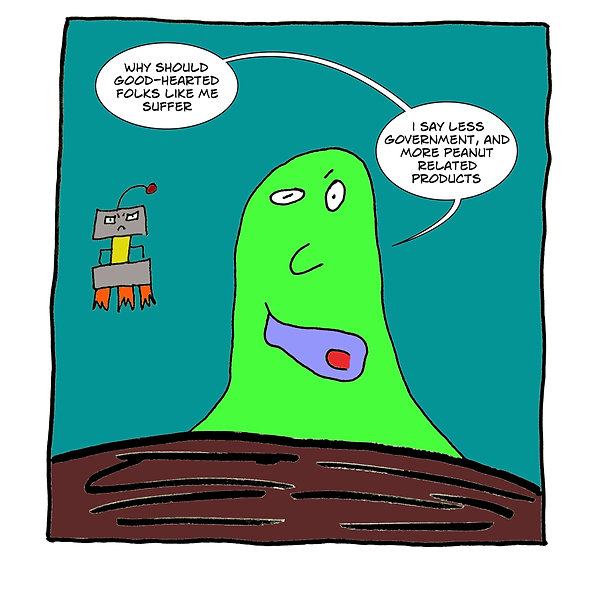 Box and Slime webcomic posts every Monay and Friday. Allergic Reactives is this week's humorous, scifi comic strip.
