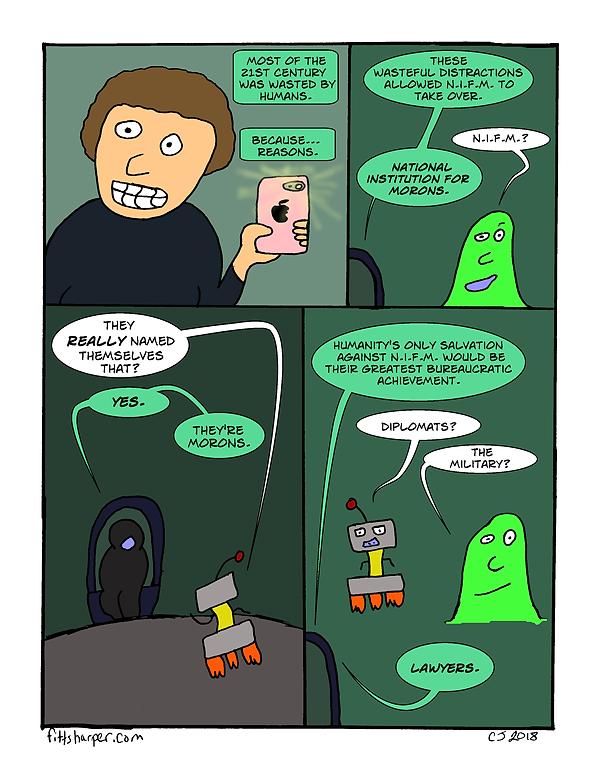 Box and Slime webcomic posts every Monay and Friday; NIFM