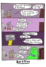 Box and Slime webcomic posts every Monay and Friday. Space Stuff is this week's humorous, scifi comic strip.
