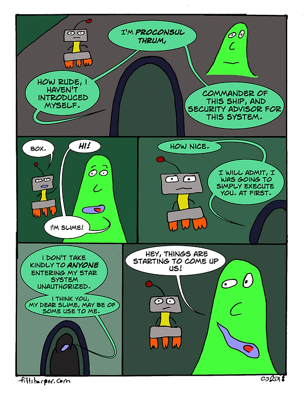 Box and Slime webcomic posts every Monay and Friday; Looking Up