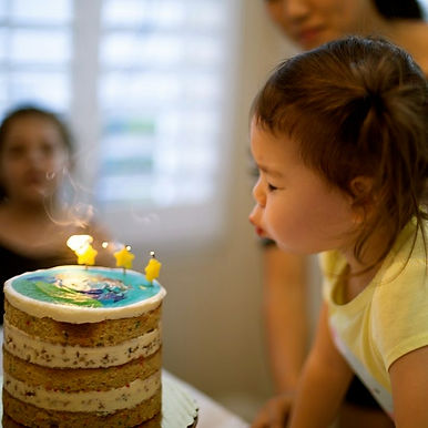 Birthday, family, blowing out candles