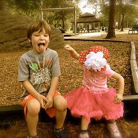 Kids, siblings playing