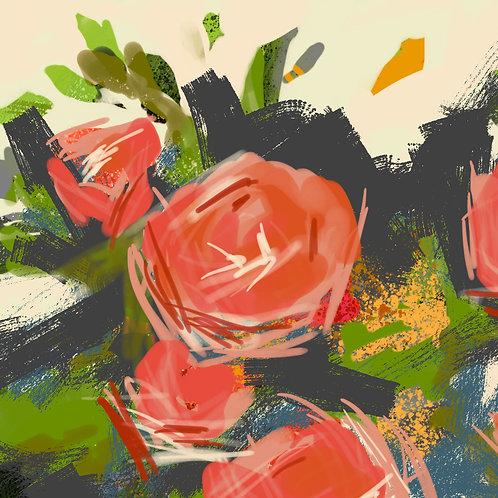Graffiti roses