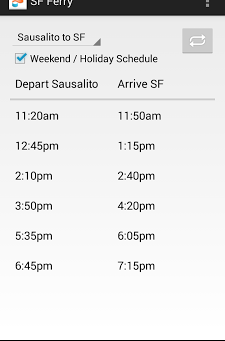 Android Programming: SF Ferry App