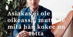 Immo Helsingin Sanomien haastattelussa