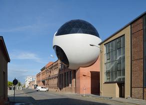 Esfera de Niemeyer em Leipzig: finalmente pronta