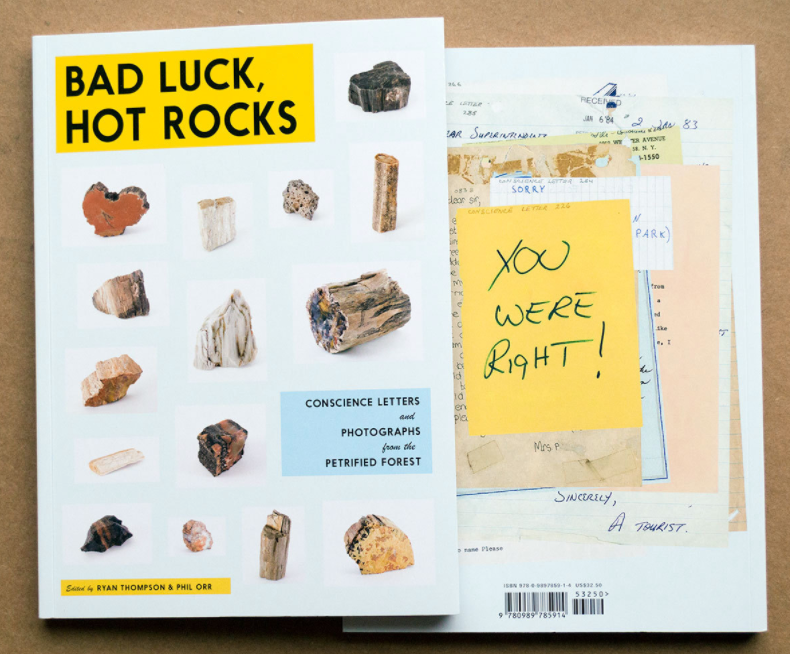 Bad luck, hot rocks - livro sobre as pedras devolvidas do Petrified Forest National Parc