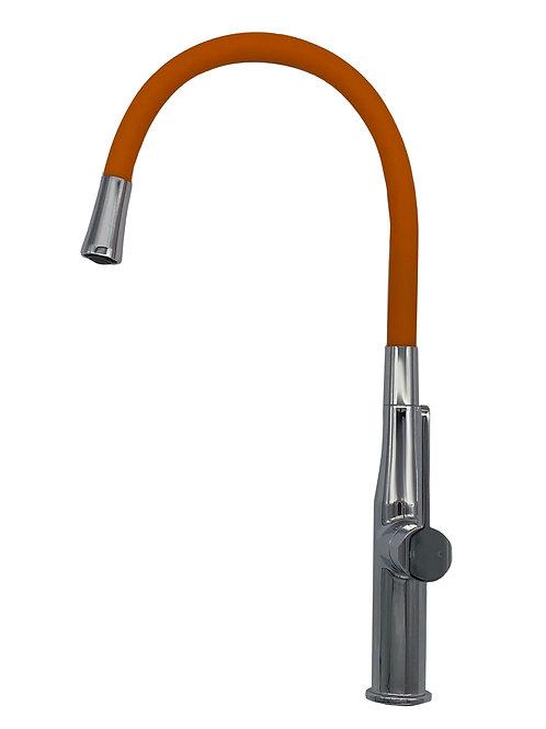 Single Handle Flexible Hose Sink Mixer in Orange