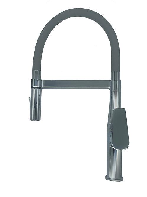 2 Function Flexible Hose Sink Mixer in Silver