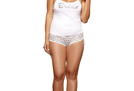 First Kiss Bridal Lingerie Sleepwear and Panty Set