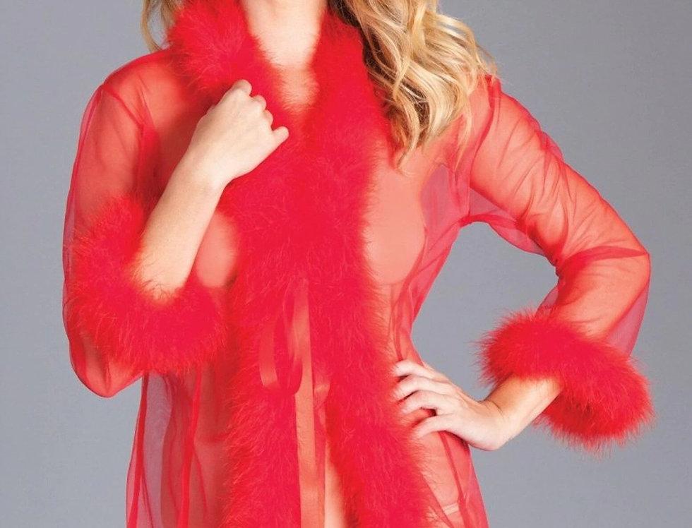 Short Length Marabou Glamour Robe