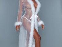Sheer Illusion Marabou Robe
