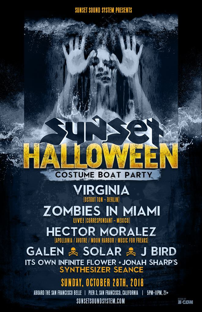 Sunset Halloween Boat Party 2018