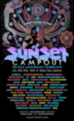 Sunset Campout 2019 lineup