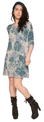 Half Slv T Dress Heather Rose Blue