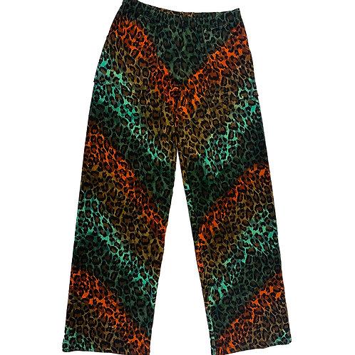 Stovepipe Leopard Pant Aqua/Pumpkin